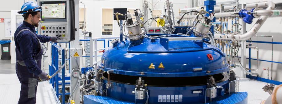 new VIGA atomizing plant