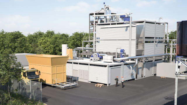 Förnybar energigas och biokoks