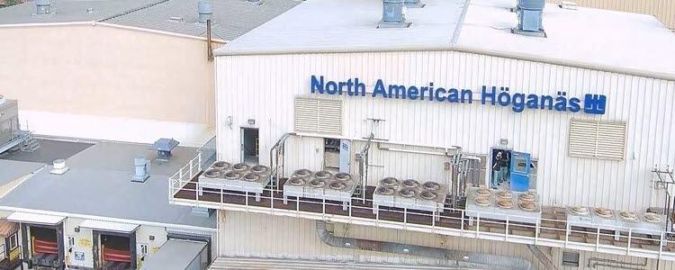 Höganäs fine powder atomisation building in Johnstown, Pennsylvania
