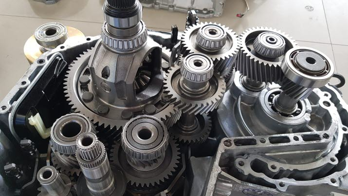 DCT transmission with E-motor