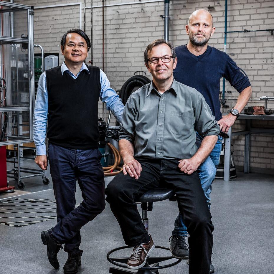 Björn Skårman, Ye Zhou und Hilmar Vidarsson