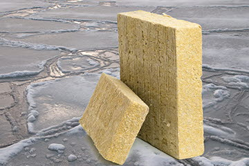 Stone wool is one example of a product made from side stream material