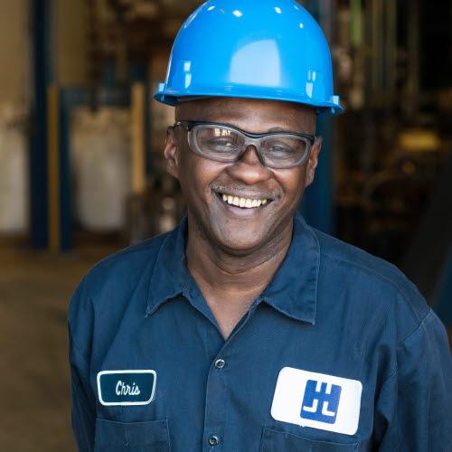 Chris Kennedy, furnace operator
