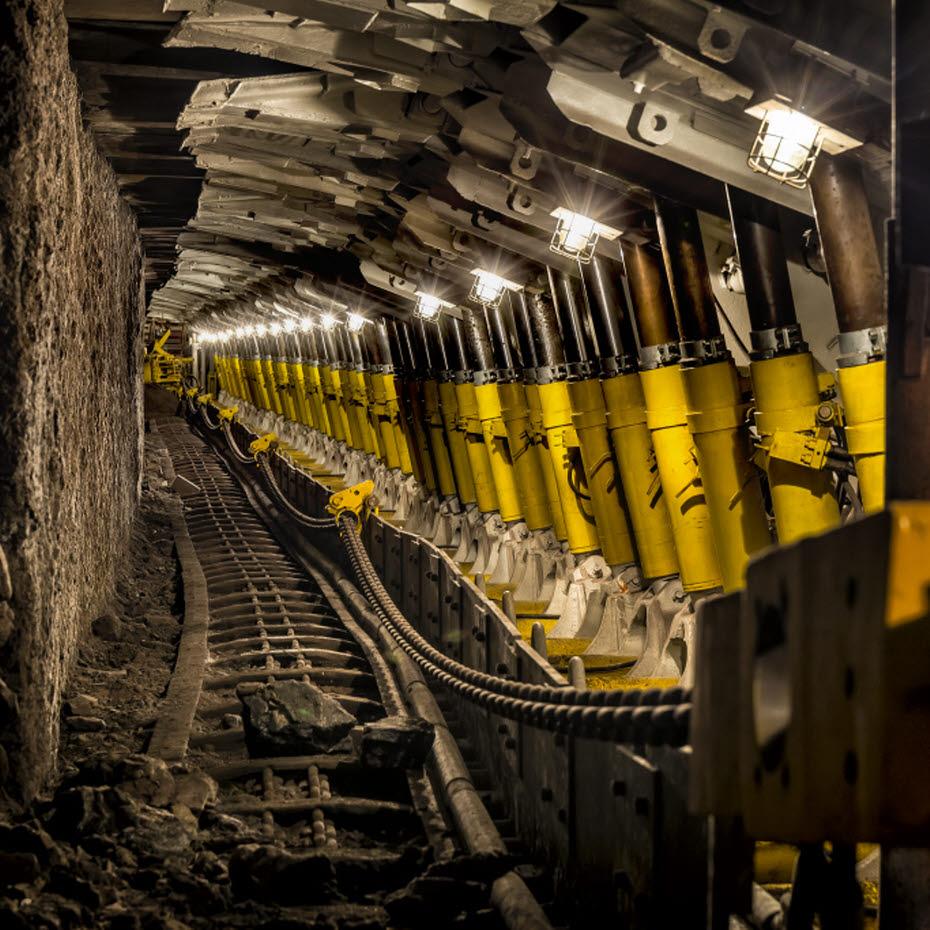 Dachstützzylinder für den Kohlebergbau