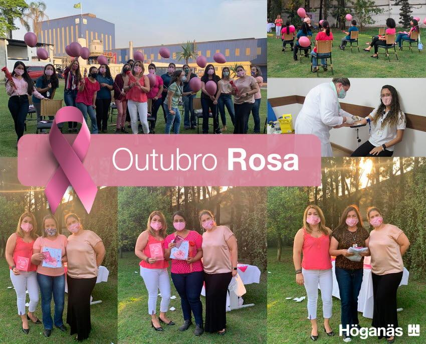 Höganäs encerra a campanha do Outubro Rosa com exames preventivos